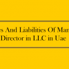 Duties And Liabilities Of Manager/Director in LLC in Uae